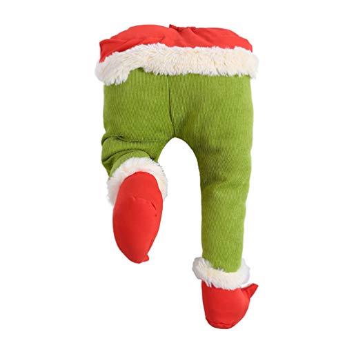 decorazioni natalizie elfo Supvox Gambe da Elfo per Decorazioni Natalizie Gambe da Elfo Ripiene Ornamento Gambe da Elfo Verde Scegli Albero di Natale Ghirlande da Mensa Auto Decorazione per Feste