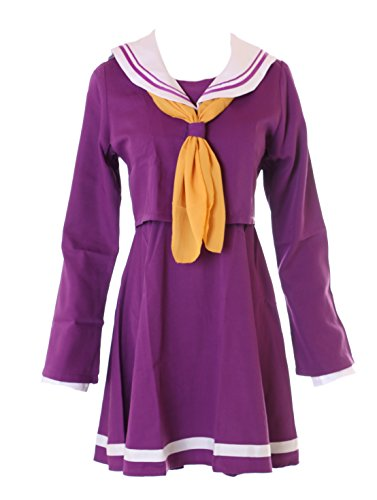 Kawaii-Story MN-30 No Game No Life Shiro lila Schuluniform Schooluniform Cosplay Set Kostüm (XL)