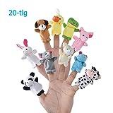 LivDeal Fingerpuppen [20-TLG]Baby Mitgebsel Kindergeburtstag Finger Plüschtier Set Jungen und Mädchen Geschenke für Ostereier und Kinderparty