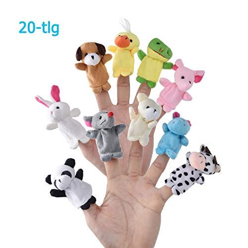Caiming Finger Plüschtier [20-TLG] Mitgebsel | Kindergeburstagen | Gastgeschenke für Kinderparty und Stuffer für Ostereier