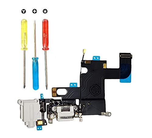 Smartex Conector de Carga Compatible con iPhone 6 Gris Claro + Kit
