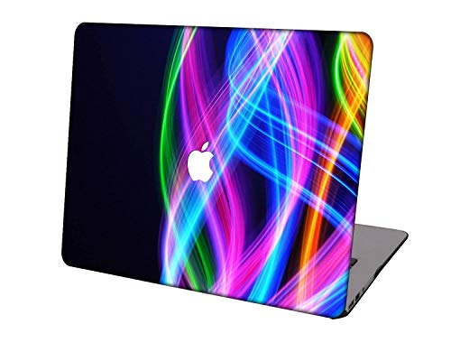 Laptop Case for MacBook Air 13 inch Model A1932/A2179/A2337,Neo-wows Plastic Ultra Slim Light Hard Shell Cover Compatible MacBook Air 13 inch 2018-2020 Release,Colorful B 1