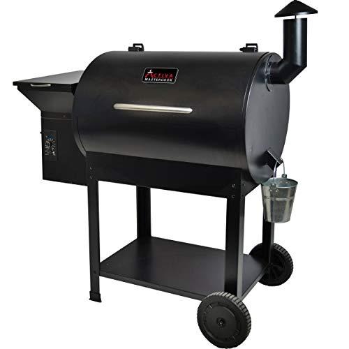 ACTIVA Grill Pelletsmoker XXL Grillwagen Smoker BBQ Barbeque Räuchern Smoken Räucherofen, Pellet-Smoker, inkl. 10 KG Pellets Buche