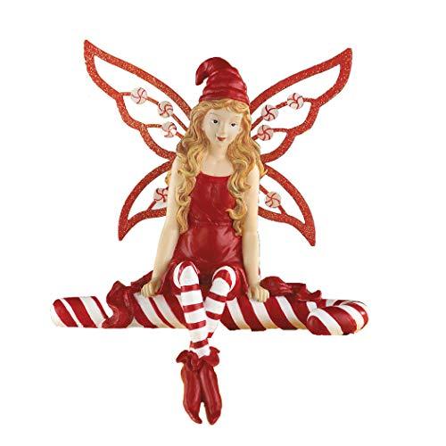 GloryBear Collections Etc Candy Cane Christmas Angel Fairy Figurine