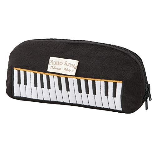 ペンケース ピアノ 鍵盤 モチーフ 筆箱 ペンポーチ 小物入れ かわいい レディース 文房具 筆記用具 高校生 おしゃれ 文具 ポーチ 通学 通勤