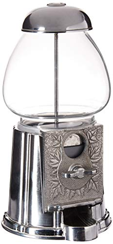 RMK WORLDWIDE INC TS102 9quot Inch Gumball Machine DispenserAntique Style 9quot Silver