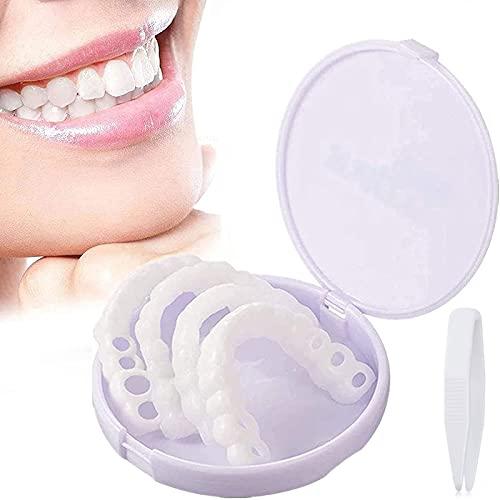 Glimlach Fineer Cosmetische Tanden Met Mini Pincet,Instant Veneers Kunstgebit Nep Tanden Glimlach Mannen En Vrouwen Voor…