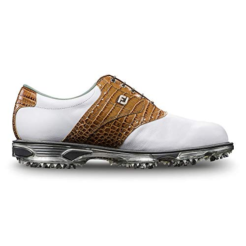 FootJoy Men's DryJoys Tour Golf Shoes White 7 W