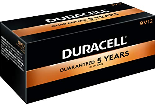 Duracell - CopperTop 9V Alkaline Batteries - long lasting, all-purpose 9 Volt battery for household and business - Pack of 12
