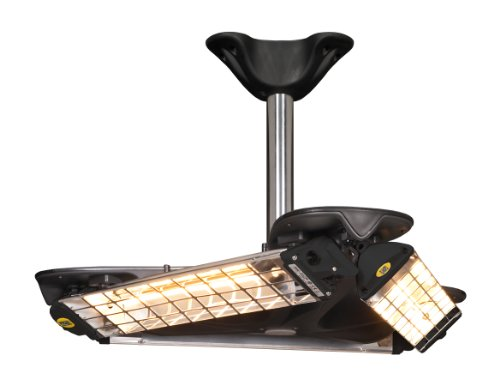 Mo-El Infrarot Heizstrahler Triangolo Decke IP65, Mehrfarbig, 3600 Watt