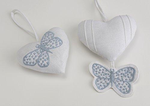 Marque Porte Suspension coeur et papillon