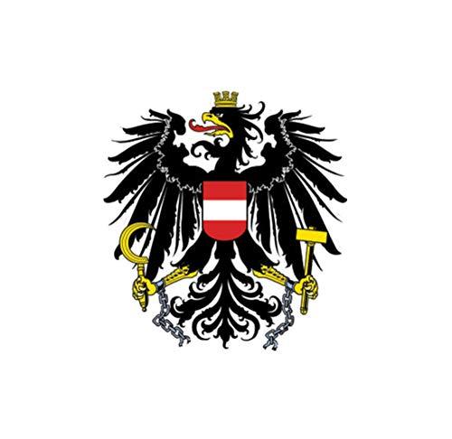 Wandtattoos Wandbilderpersönlichkeit Lustige Österreich Flagge Wappen Auto Aufkleber Aufkleber 9.6Cmx10.2Cm