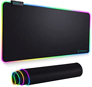 RAVIANT RGB Gaming Mouse Pad,(80cm X 30cm)LED 14 Lighting Modes,Extended Soft Mousepad, Large Mouse pad with Premium-Textu...