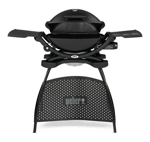 Weber Q2200 with stand Parrilla Gas natural Negro - Barbacoa (Parrilla, Gas natural, 1806 cm², Negro, Ovalado, Acero inoxidable)