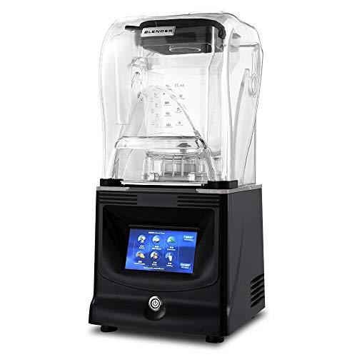 YiWon Standmixer 1800W Elektrische Standmixer Blender Smoothie Maker Mixer mit Mixer Touchscreen-Anzeige für Smoothies, Smoothies, Eis, Obst und Gemüse
