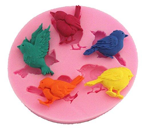 Longcang mold LC Birds X1000Fondant Form Silikon Zucker Kunstharz Backform Craft Formen DIY Cake decoratin