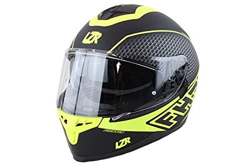 Marushin Motorrad Helm Lazer - FullFace FH3 Fighter - Schwarz, Neongelb, Matt, Größe: XS bis XXL, Helmgröße:L