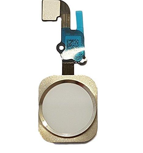 LIVHÒ® Tasto Home con Cavo Flex, Colore Bianco Compatibile con iPhone 6S