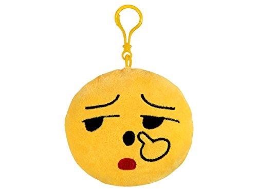 Alsino Emoji Schlüsselanhänger Emoticon Karabiner Emoji-con Lach Smiley Anhänger, Variante wählen:SA-EKM02 Nase bohren