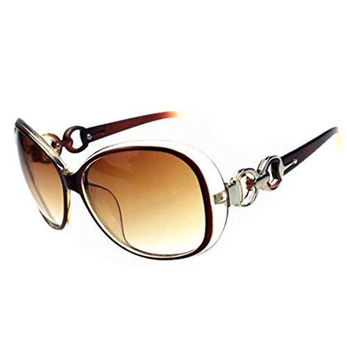 Women Shades Oversized Eyewear Classic Designer Sunglasses UV400-Tawney