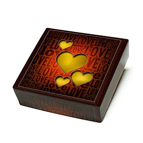 Regalo gourmet original con 3 capas de golosinas de corazones: 80 golosinas, 700 g.