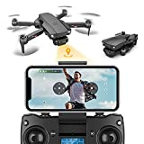 6K HD WiFi GPS Drone with Dual Camera for Adults, S1 drone 75mins 1km Long Distance Camera Drone GPS 5G Drone Brushless Motor, 50x zoom, Auto Return, MV Filter, Gesture Photo and More