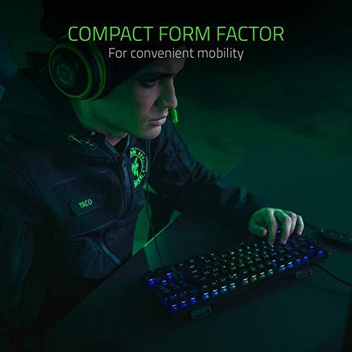 Razer Huntsman Tournament Edition Teclado con Teclas opto-mecánicas Razer, Unidad óptica, Barra estabilizadora de Teclas, Durabilidad inigualable, Razer Synapse 3 - ES Layout