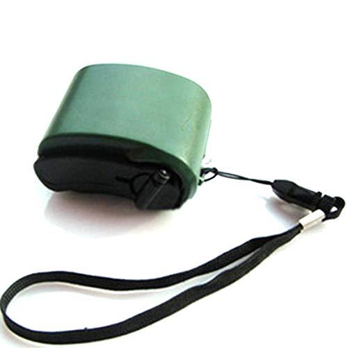 MeterBew1147 Mini Cargador de teléfono Celular con Radio USB de manivela y Linterna Cargador de generador de energía de Emergencia Manual portátil para Viajes al Aire Libre - Verde