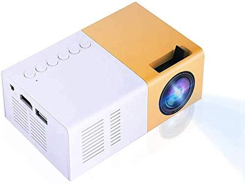 Mugast Miniprojektor, tragbarer 1080P-Filmprojektor 1500 Lumen Pocket-Videoprojektor Kompatibel mit HDMI, AV, VGA, USB für die Erholung im Freien, Heimkinos(EU)