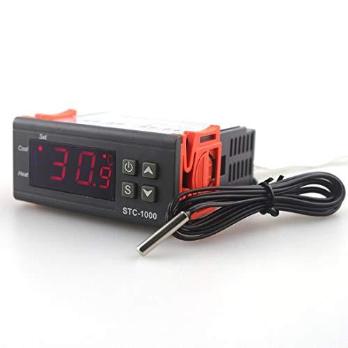 Swiftswan - Termostato Digital Multiusos Fahrenheit y Centigrade con Sensor y 2 relés, 12V