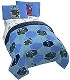 Disney Onward Heroes & Hexagons 4 Piece Twin Bed Set - Includes Reversible Comforter & Sheet Set - Bedding Features Ian & Barley Lightfoot - Super Soft Microfiber - (Official Disney Pixar Prod
