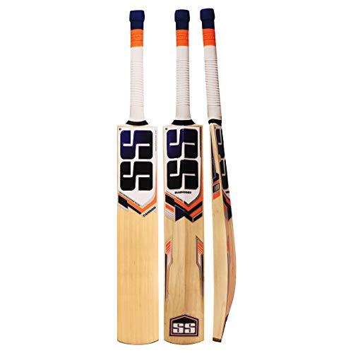 SS Kaschmir Willow Leder Ball Cricket Bat, exklusiven Cricket Schläger für Erwachsene Full Größe mit Full Cover Schutz