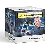Lernkarten Taxi Mietwagen Unternehmer von Verkehrsseminare24 | 500 Karteikarten inkl. Box zur Aufbewahrung | DIN A6 | Prüfung
