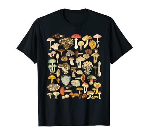 Camicia di funghi Fungi Foraging Mushroom Whisperer Maglietta