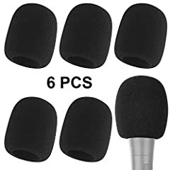 Microphone Cover Set - 6 pieces foam mic cover, 2.8 x 2.3 inches, caliber size is 1.4 inches, suitable for most standard handheld microphone, not for headset mic. Foam windscreen - Eliminates a bit more of that background noise during our recording s...