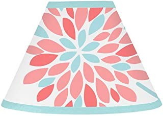 Sweet Jojo Designs Lamp Shade for Modern Turquoise and Coral Emma Bedding Collection