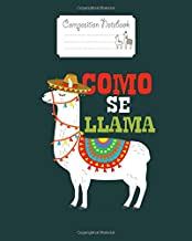 Composition Notebook: como se llama animal funny mexican cinco de mayo - for men woman Journal/Notebook Blank Lined Ruled 100 pages 8x10 inches