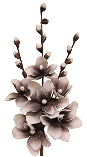Flair Flower Soft-Magnolienarrangement, Kunststoff, braun/weiß, 67 x 26 x 20 cm