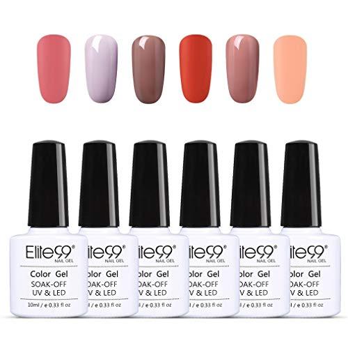 Elite99 matt UV nagellak gel nagellak, uv-led, kleuren set voor nail design gel polish, soak off gel nagellak voor nail art One Step Kit nagellak 10ml 003