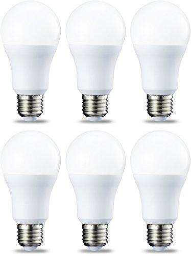 AmazonBasics Ampoule LED E27 A60 avec culot à vis, 10W (équivalent ampoule incandescente 75W), blanc froid - Lot de 6