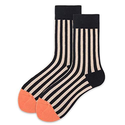 BUIDI Calcetines de Rayas Calcetines de Rayas Verticales Estilo Street para Hombre Calcetines de Rayas para Mujer