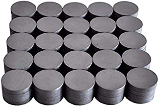 Cutequeen 99PCS Round Ceramic Industrial Ferrite Magnets for hobbies,Crafts and Science(pack of 99)