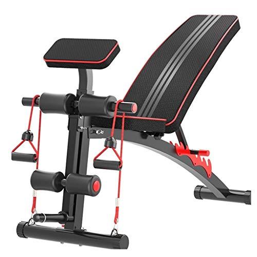 Hantelbänke Multifunktions Heimfitnessbank Hocker für Wohnzimmerbankdrücken Sit-Up-Hocker Innen Fitnessgeräte für Erwachsene Gewichtsverlustmaschine für