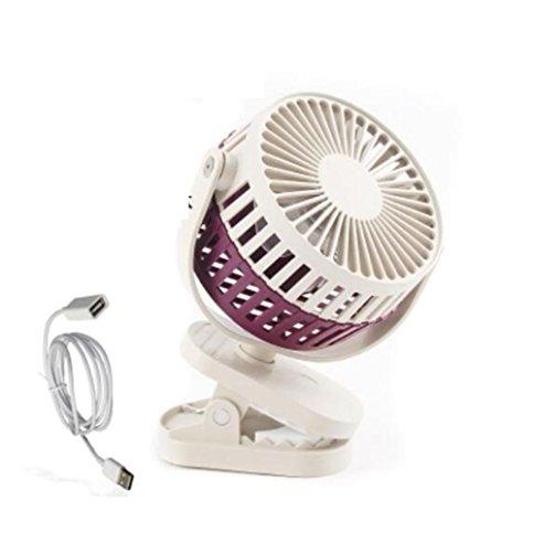 Fan/ Ventola da Caricabatteria portatile portatile del tocco del clip del USB Mini ventilatore del microfono del muto