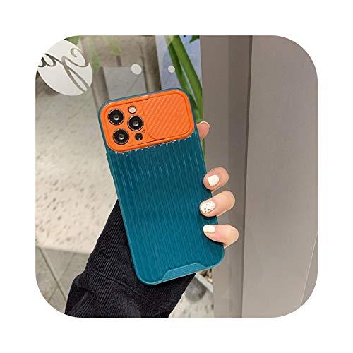 Para iPhone 12 Pro Max Caso de protección de la cámara textura del teléfono caso para iPhone 12 11 Pro Max XS Max X XR 8 7 Plus suave Bumper Cover g-For iPhone 11 Pro