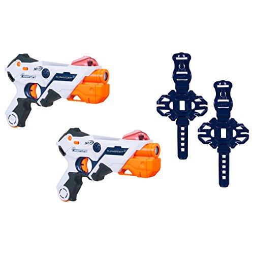 Nerf Laser Ops AlphaPoint, 2er Set, LaserTag-Blaster mit Licht- & Soundeffekt, Kinder-Spielzeug, inkl....