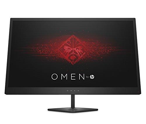 """HP - Gaming OMEN 25 Monitor TN, Schermo FHD Antiriflesso 24.5"""", Tecnologia AMD FreeSync, Tempo di Risposta 1 ms Overdrive, Frequenza 144 Hz, Risoluzione 1920 x 1080, HDMI, DisplayPort, Nero"""