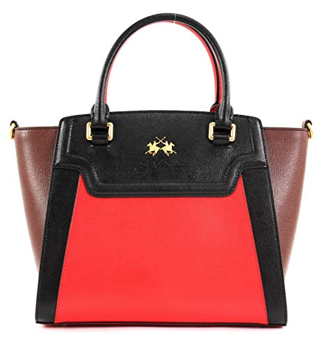 La Martina La Portena Handbag Mars Red/Black / Potting Soil