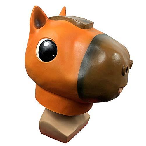 YHX Mscara Divertida del Sombrero del pequeo Caballo Lindo, Sombrero del Animal de la Historieta de la Mascarada, Accesorios del Partido de Halloween