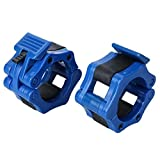 Xinyuanweiye Barbell Lock 1 Pair 50MM Dumbbells Barbell Clamps Collars Lock Fitness Musculation Standard Weightlifting Dambil Gym Plastic Buckle Cactusus (Color : Blue)
